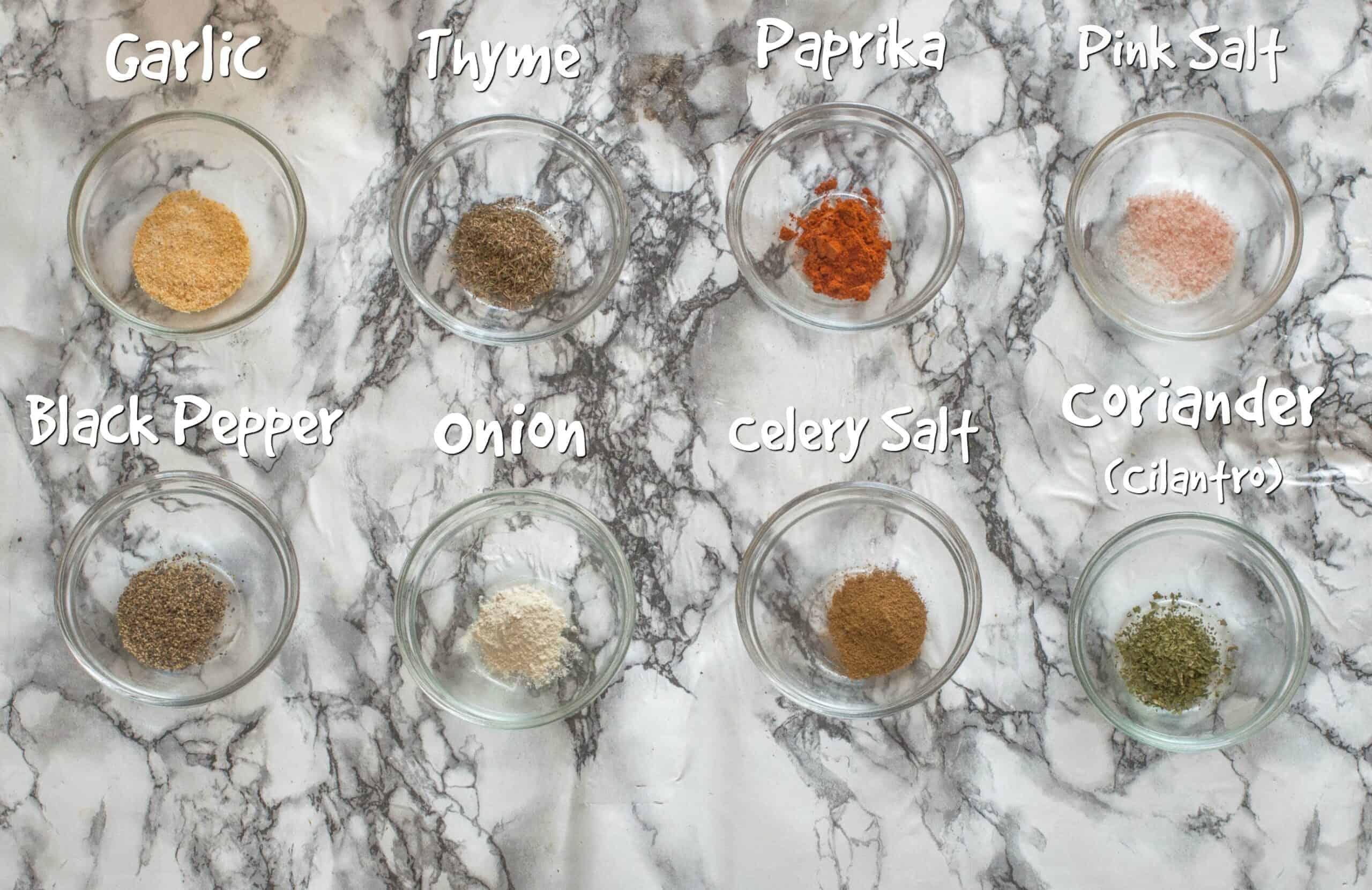 ingredients for the seafood seasoning recipe