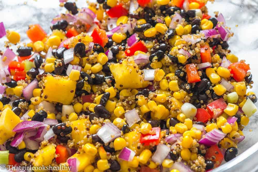 step 2 - Black bean and corn salad