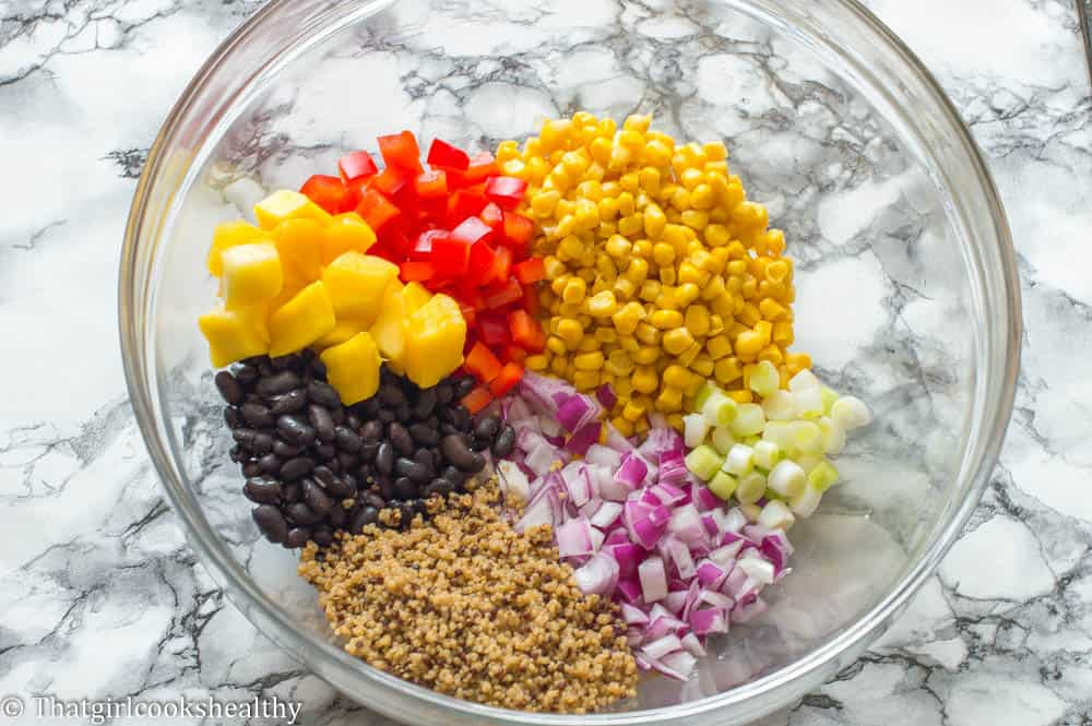 step1 - Black bean and corn salad