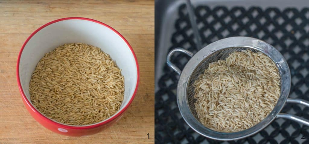 How to cook brown rice perfectly steps 1-2