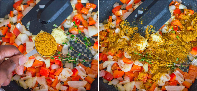 black eyed peas curry steps 3-4