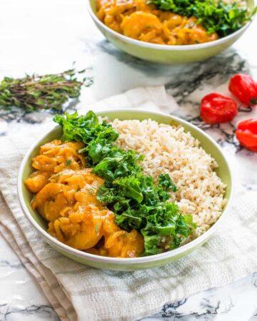 Jamaican curry shrimp