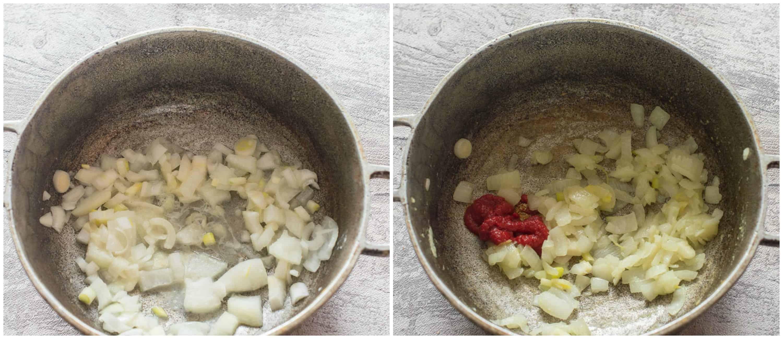 Jamaican curry shrimp step 1-2