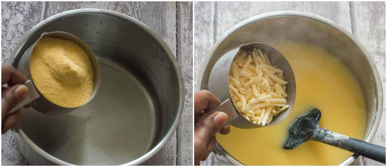 funchi fries step 1 2 - Funchi fries (Dutch Caribbean)