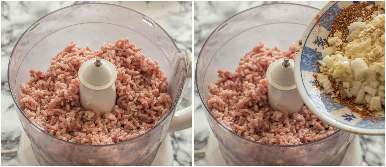 lamb kofta kebabs steps 1-2