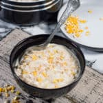 Hominy corn porridge