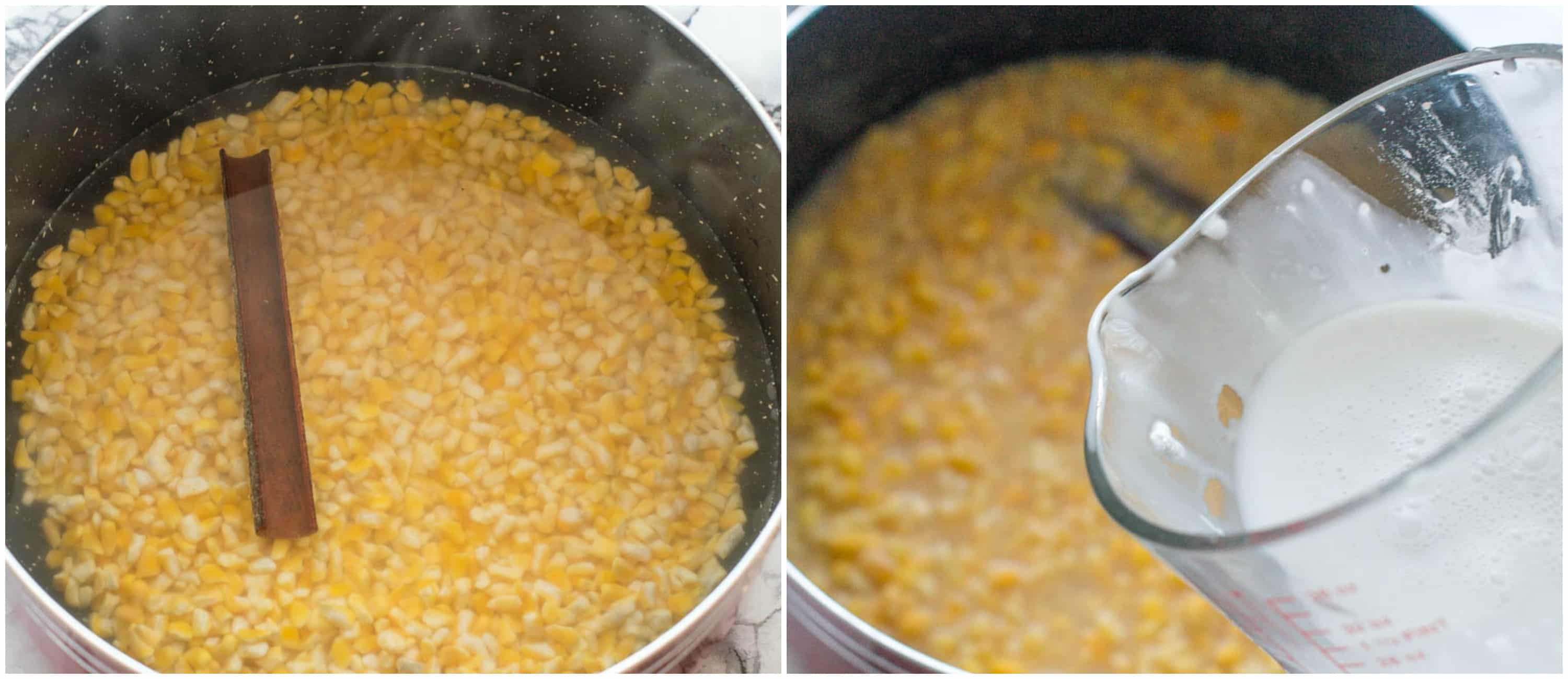 hominy corn porridge steps 3-4
