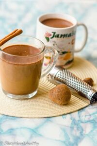 Jamaican hot chocolate (cocoa tea)