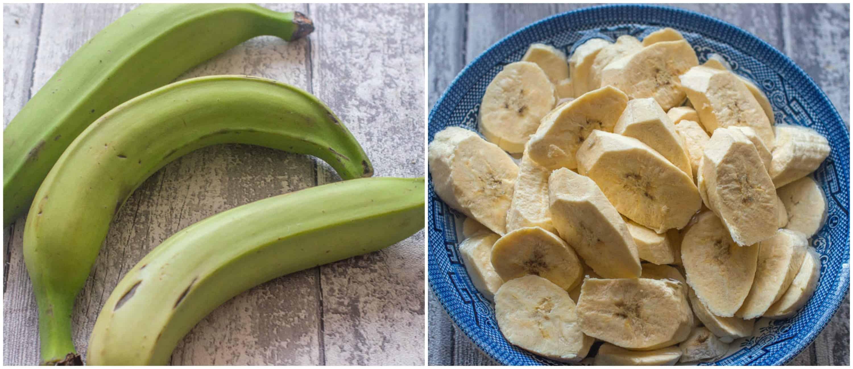 how to make plantain flour steps 1-2