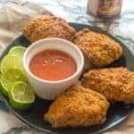Jamaican fried chicken square shot