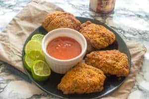 Jamaican fried chicken (air fryer, gluten free)