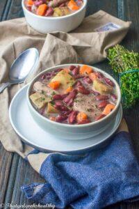 Red pea soup (vegan, gluten free)