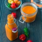 Scotch bonnet pepper sauce square shot
