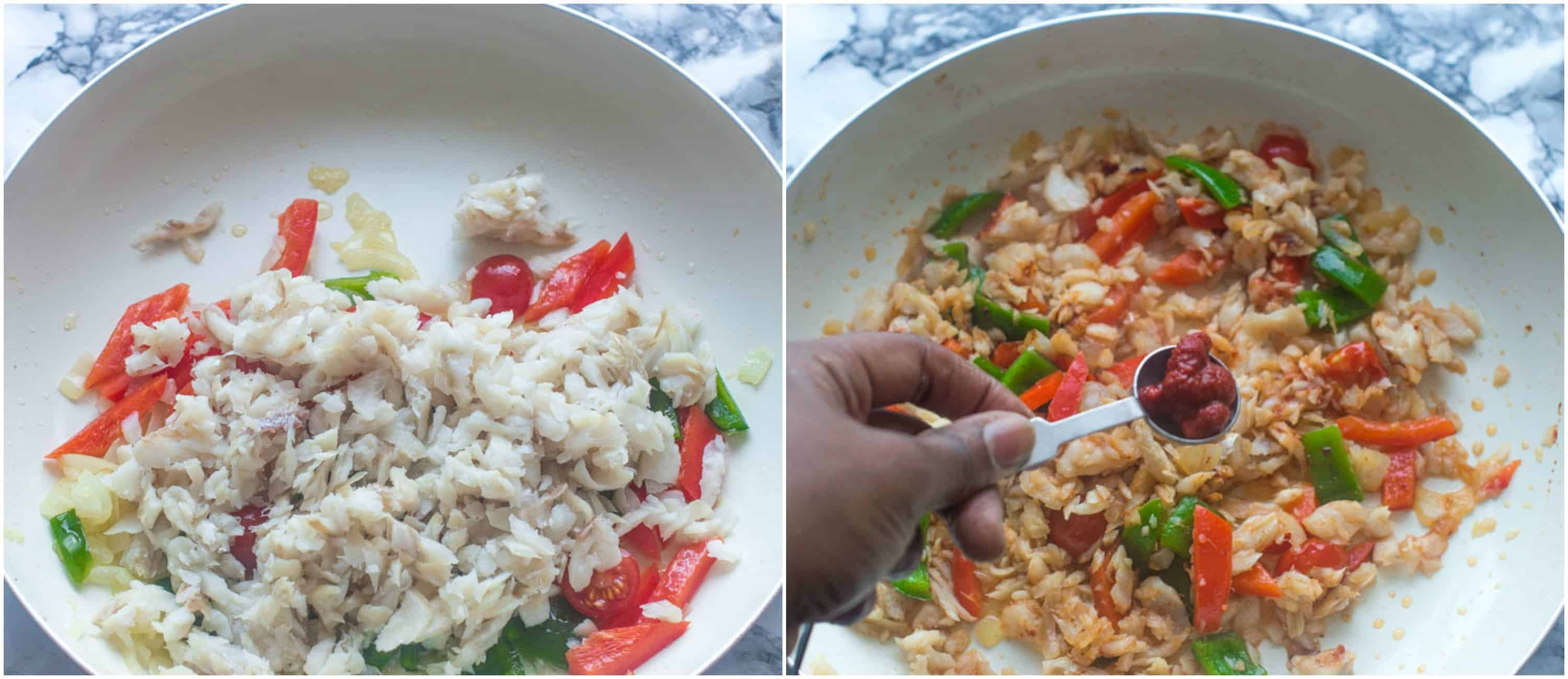 ackee and saltfish steps 3-4