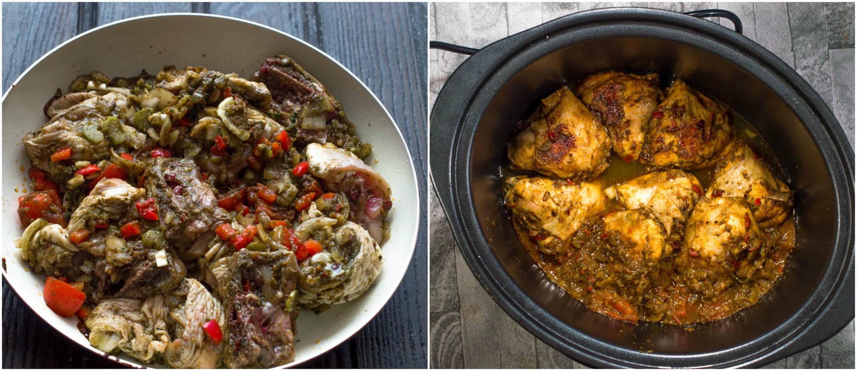 trinidad stew chicken steps 7 8 - Trinidad stew chicken (slow cooker)