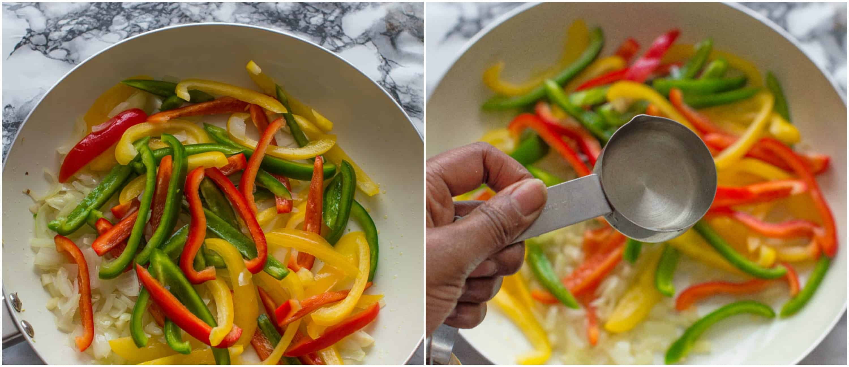 vegan rasta pasta dish steps 3-4