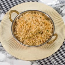 Toasted coconut caribbean rice