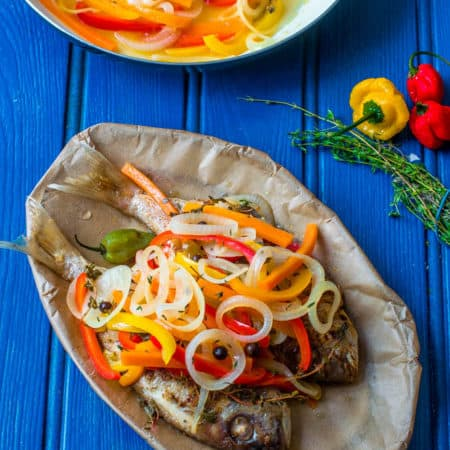 Delicious Jamaican escovitch fish