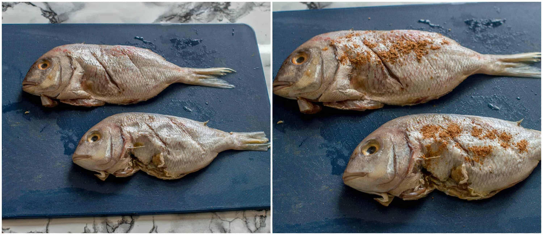 Escovitch fish steps 1-2