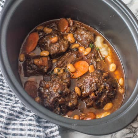 Jamaican oxtail stew with butter beans