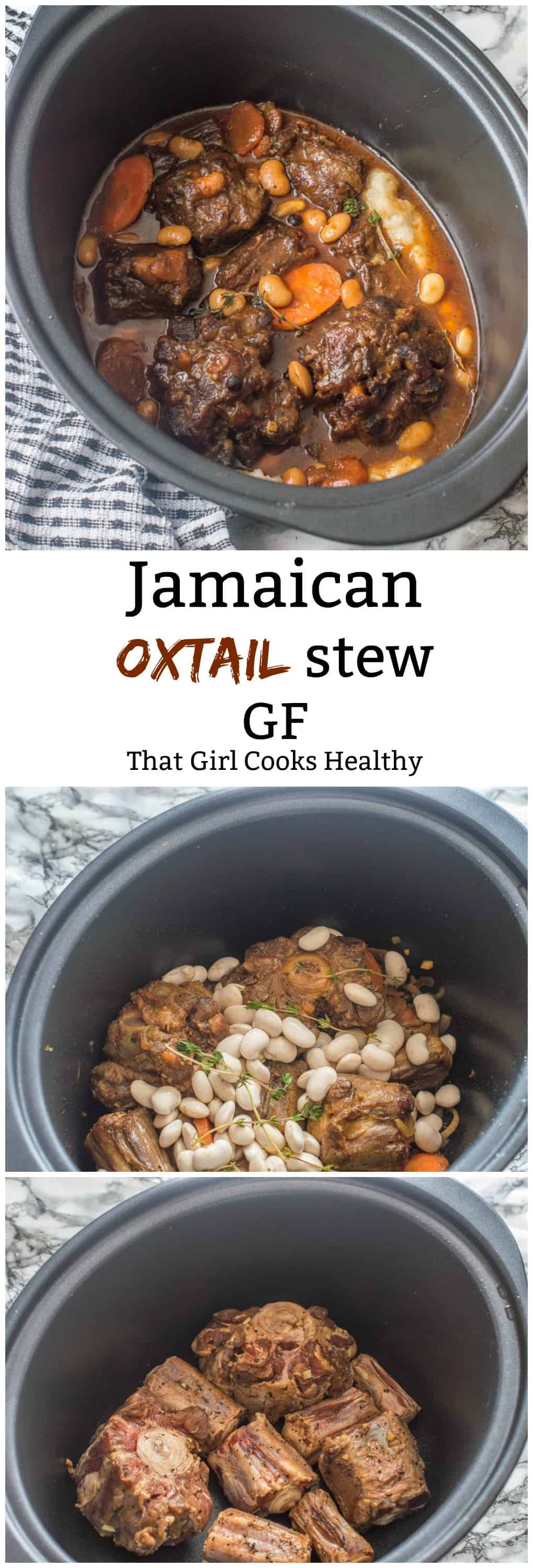 Jamaican oxtail stew is hearty, delicious and made in a slow cooker