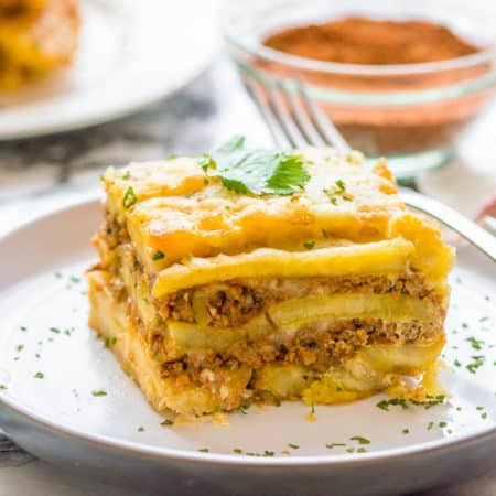 Delicious Puerto Rican sweet lasagna called Pastelon