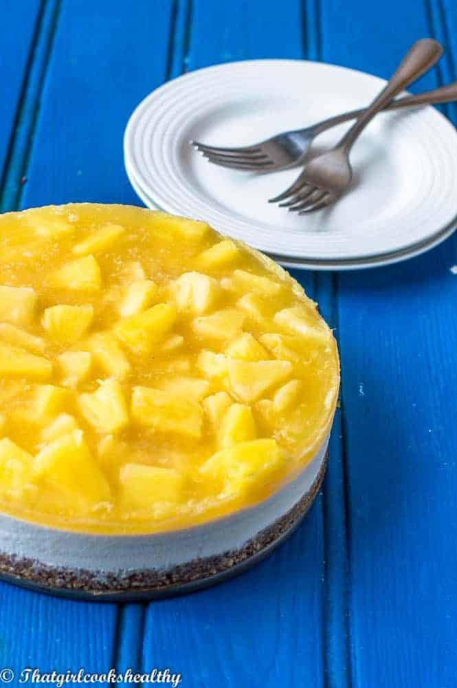 No bake pineapple cheesecake