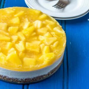 half a cheesecake