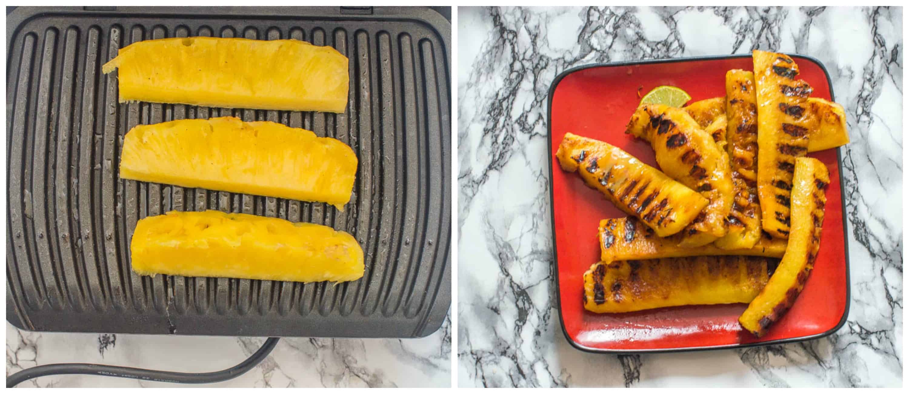 How to grill pineapple steps 3-4
