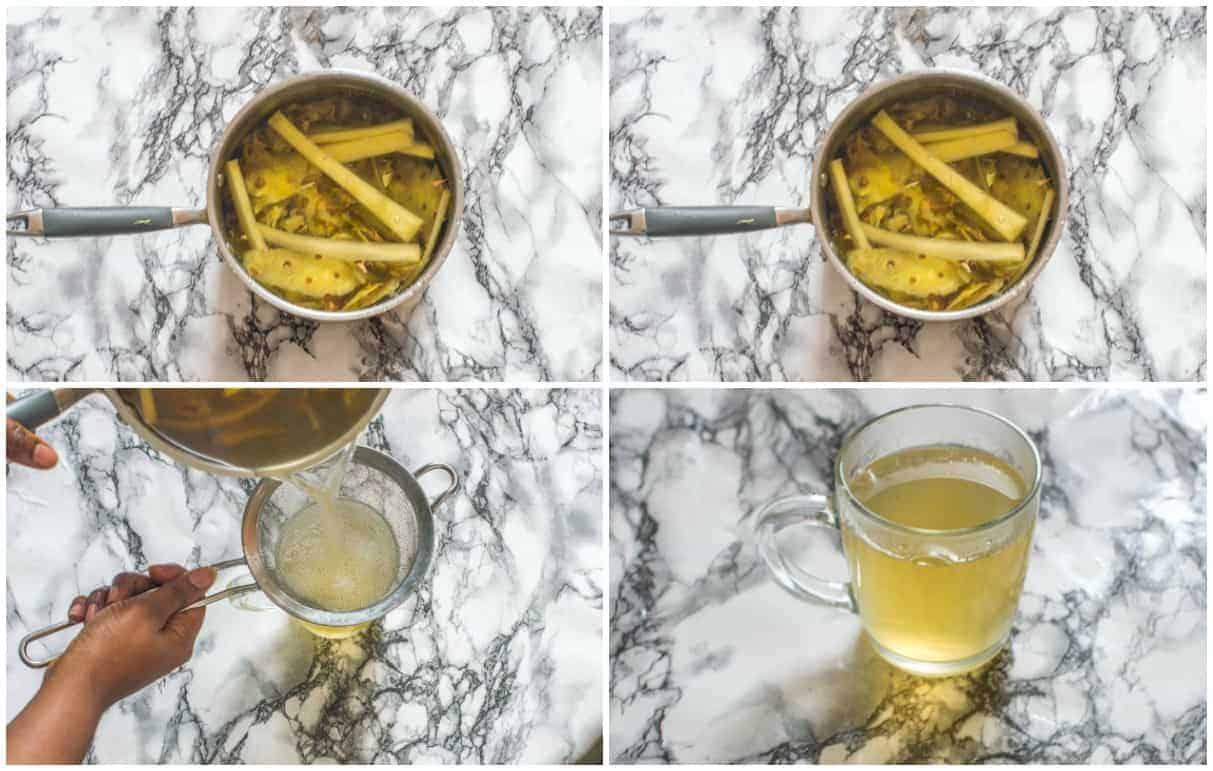 How to make pineapple tea