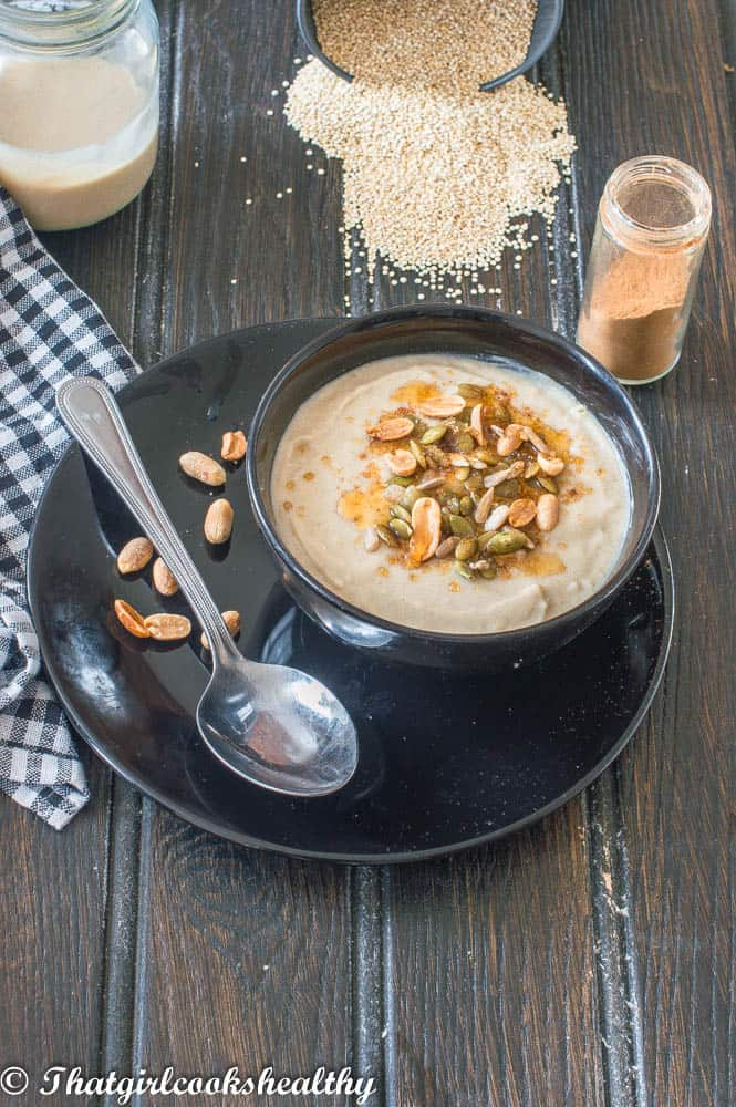 Delicious heart warming Quinoa porridge