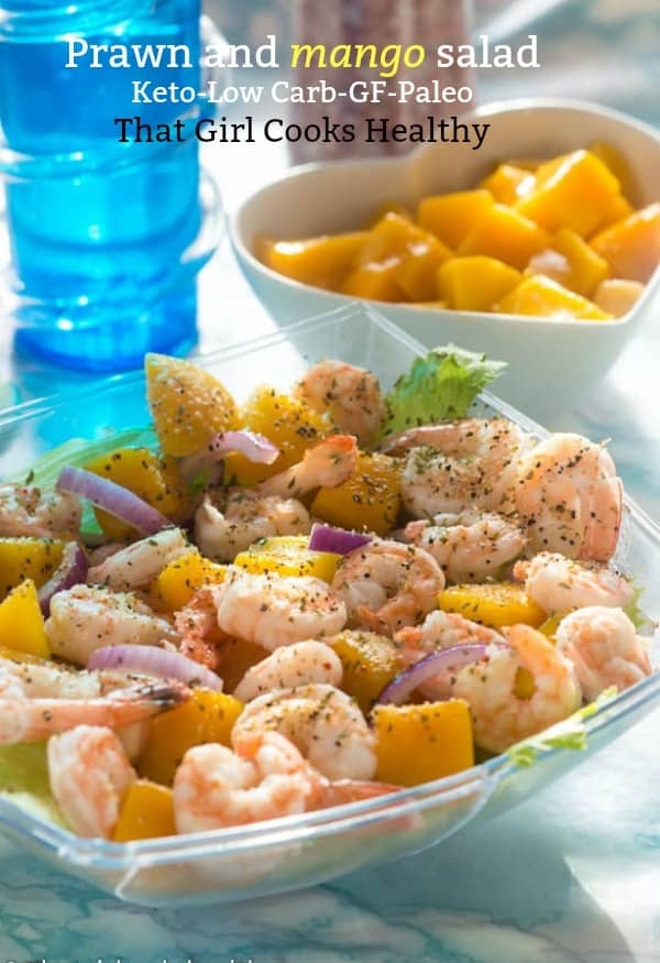 Kick start this summer with some low carb prawn and mango salad