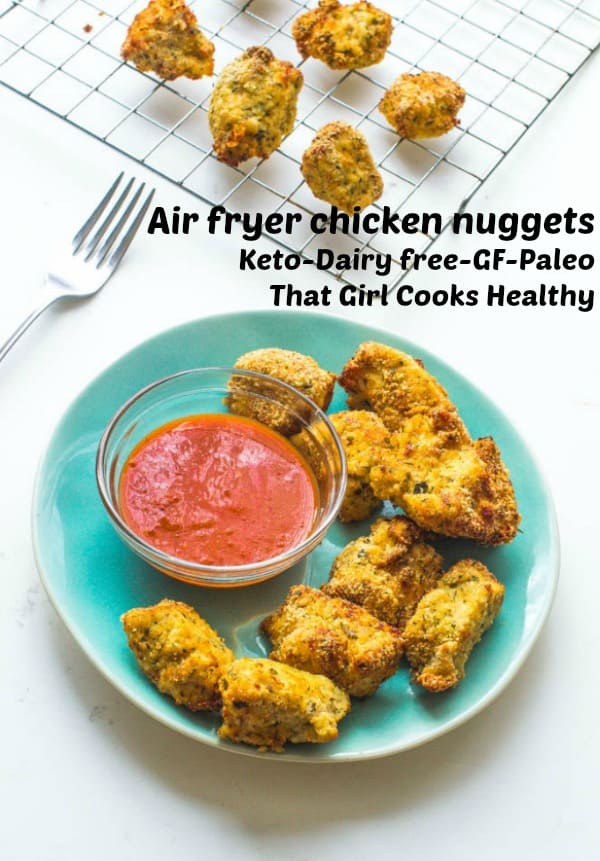 Delicious low carb flourless air fryer chicken nuggets