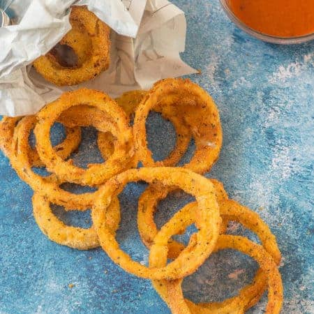 Air fryer onion rings
