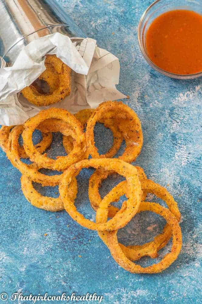 Gluten Free Air Fryer Onion Rings That Girl Cooks Healthy