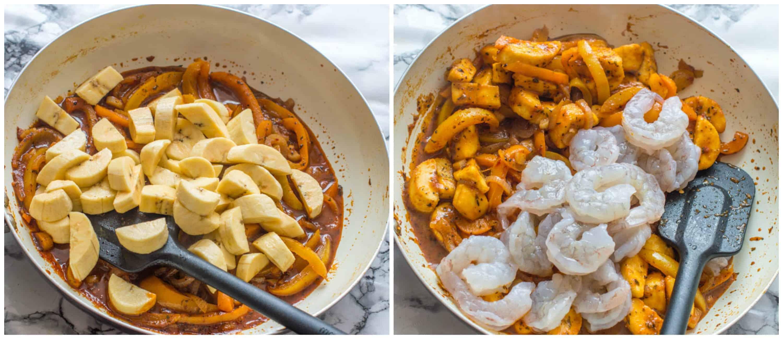 Spicy sweet shrimp steps 3-4
