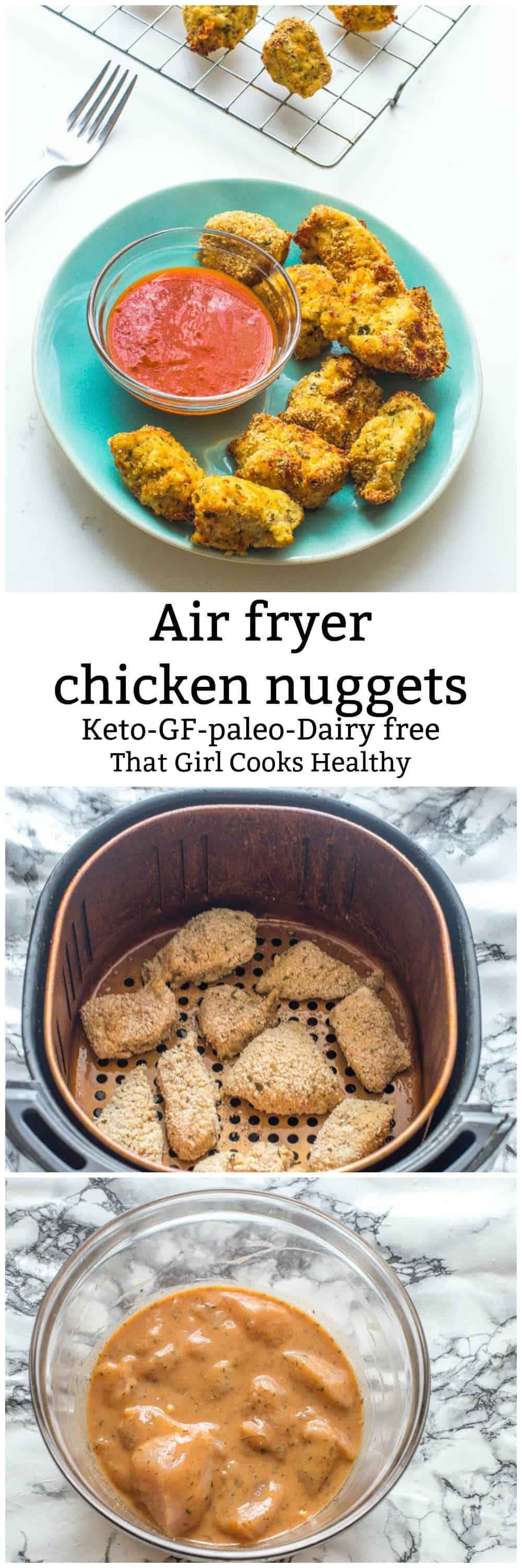 Delicious low carb air fryer chicken nuggets