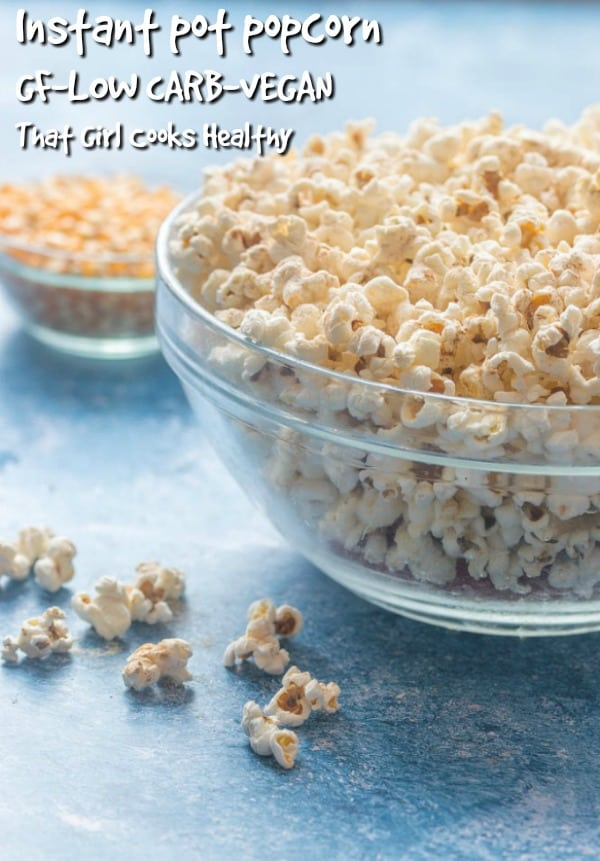instant pot popcorn with cinnamon sweet and salted flavouring can be made in a matter of minutes