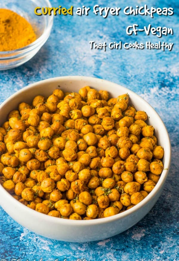 curried air fryer chickpeas make the crunchiest healthy snack