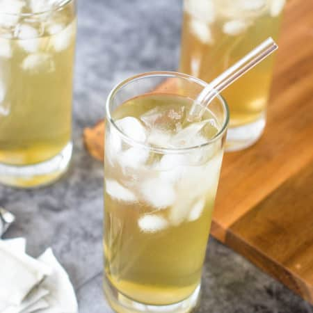 Three whole glasses of Iced cerasee tea