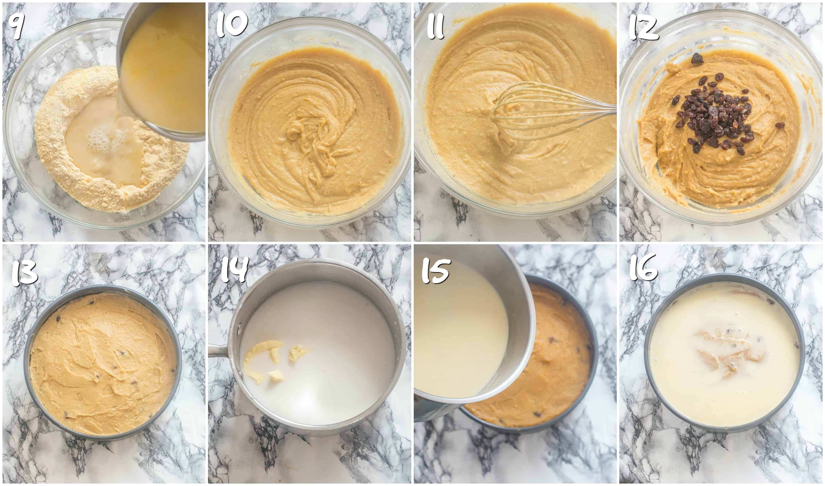 Jamaican cornmeal pudding steps 9-16