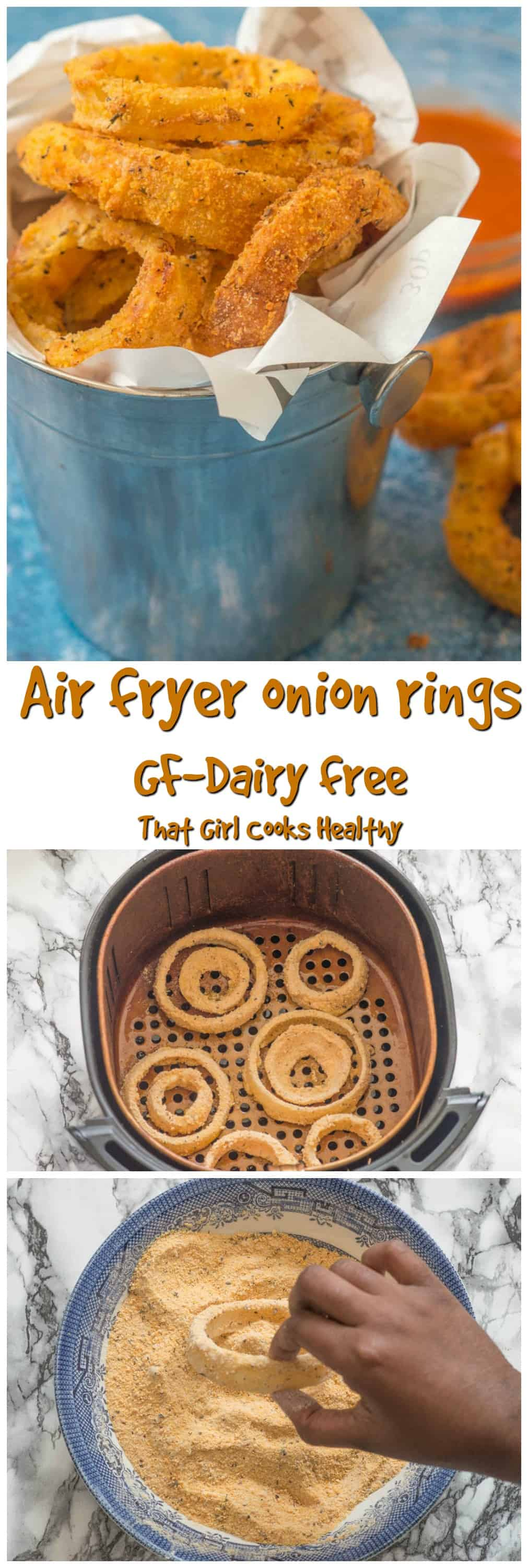The the crispiest gluten free air fryer onion rings you will ever make