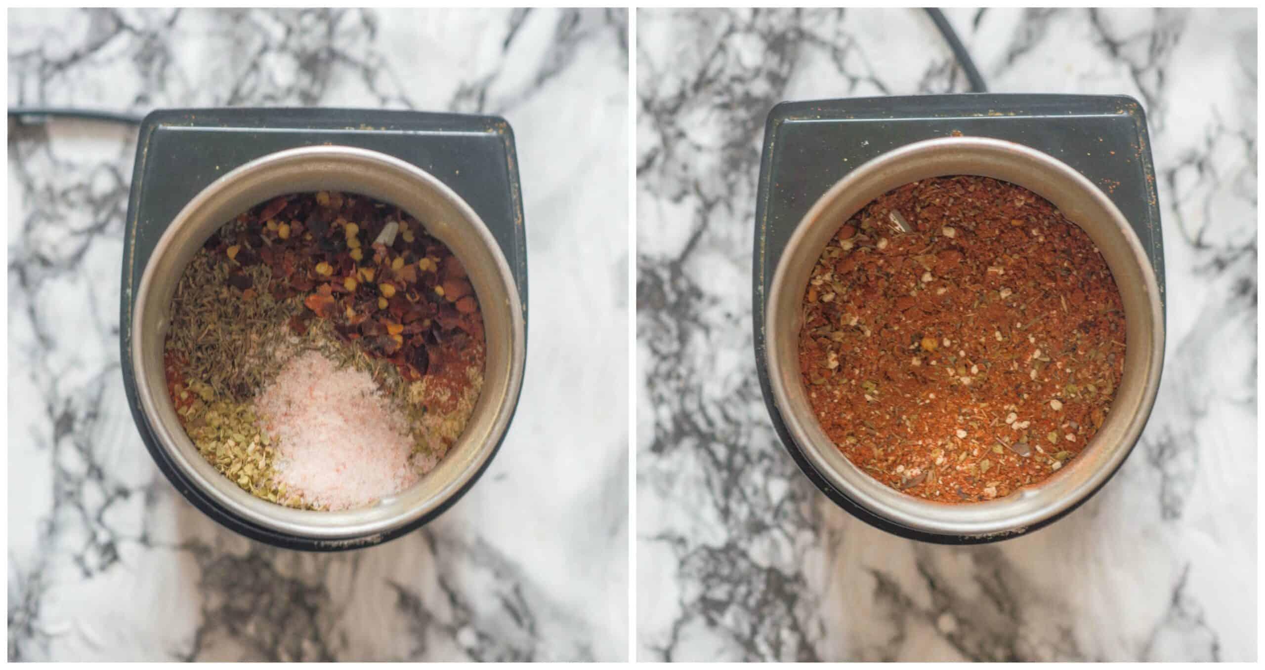 steps 1-2 making the seasoning