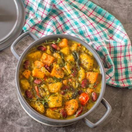 Curry in a casserole dish