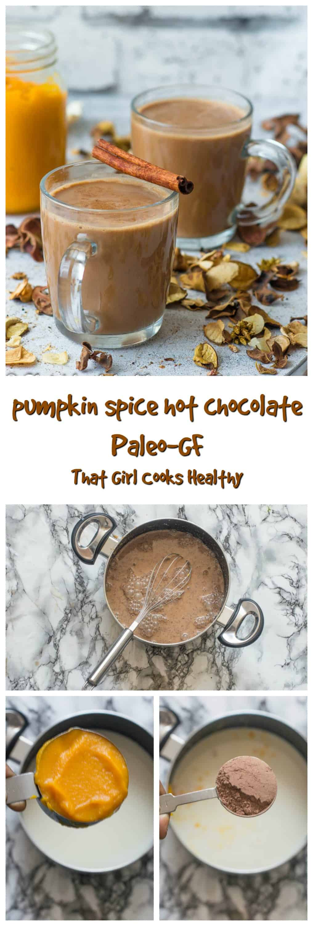 Embrace the fall with this tasty veganized pumpkin spice hot chocolate