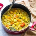 stewed vegetables in a saucepan