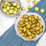 Sprouts air fried with uncooked ones