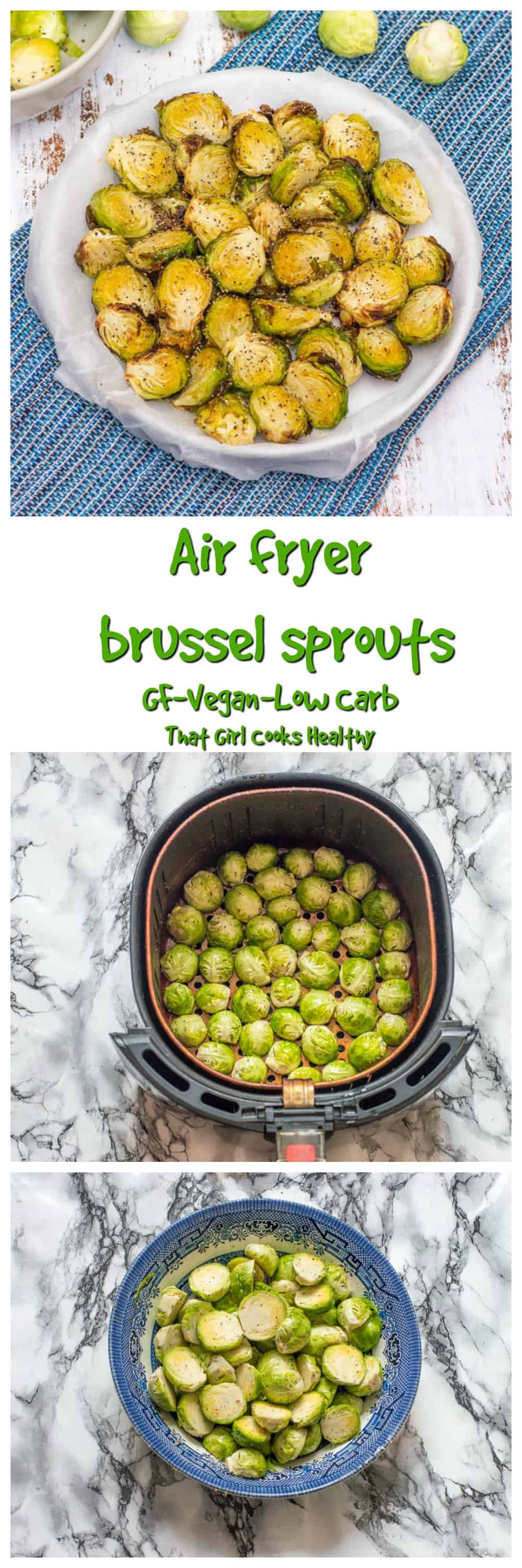 These delicious air fryer brussel sprouts make the perfect low carb seasonal side dish or healthy appetizer