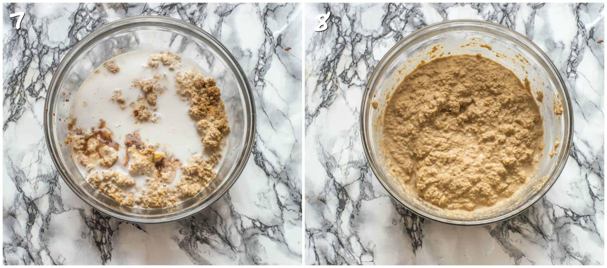steps 7-8 adding coconut milk to sweet potato puree