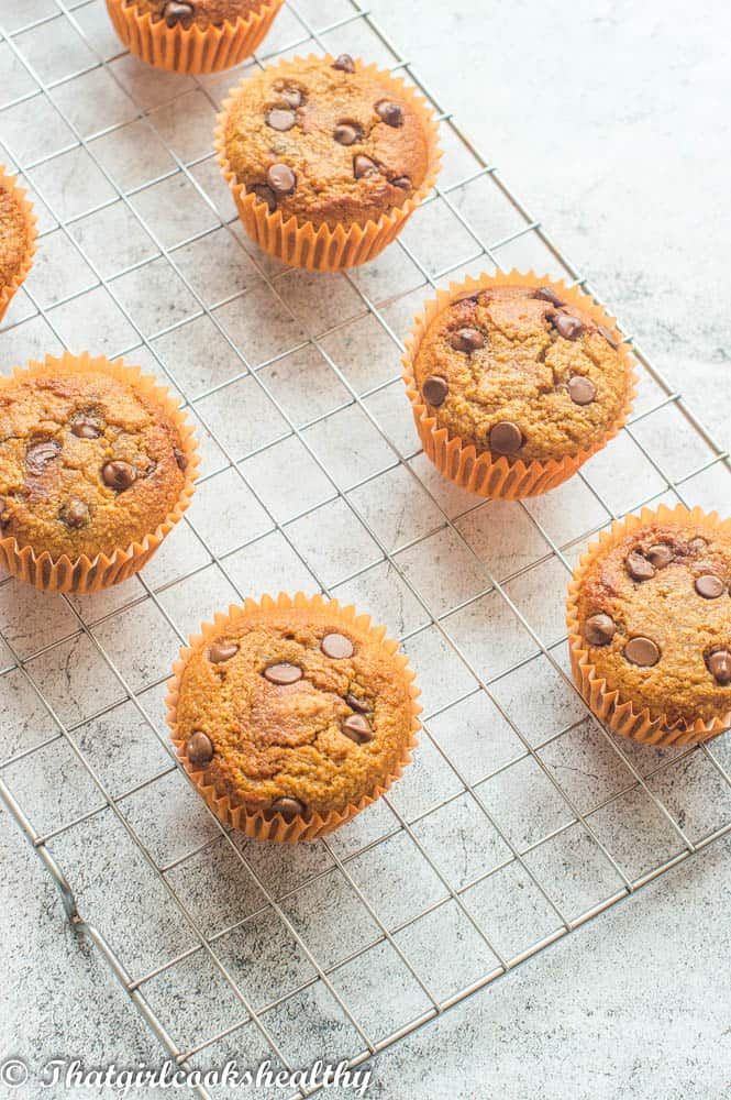 overhead shot of the muffin tops